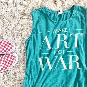 Make Art Not War Tank